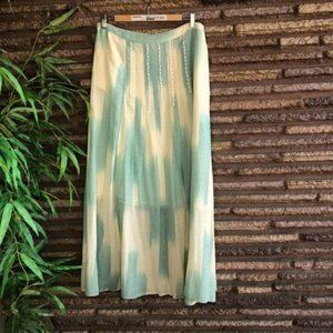 Anthropologie Floreat Gently Pleated Maxi Skirt